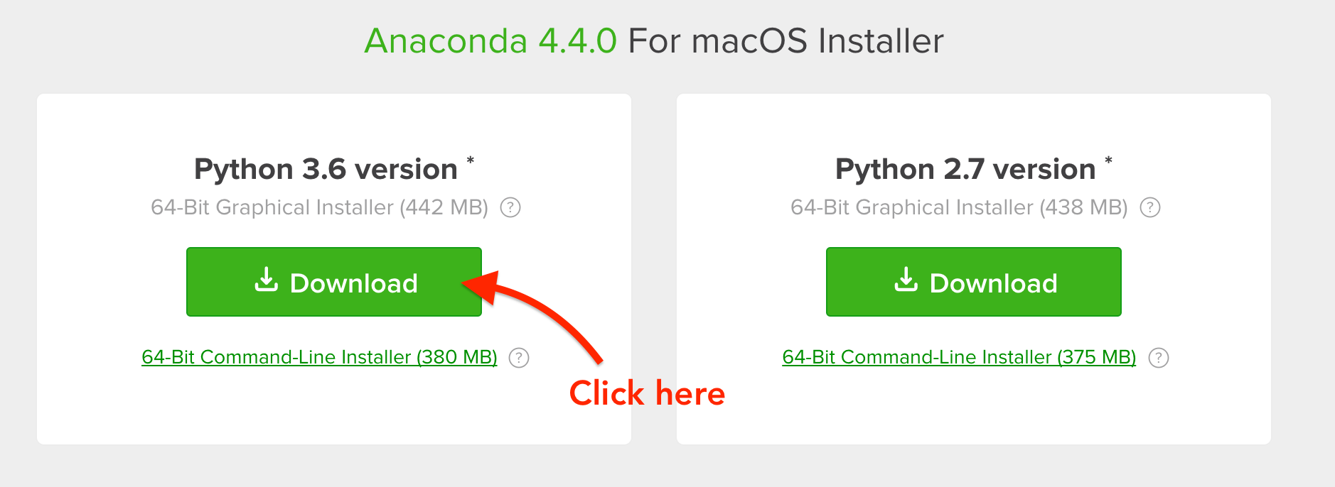 Downloading the latest Anaconda for Mac